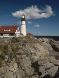 Exterior of Portland Head Light Photographic Print by Richard Nowitz