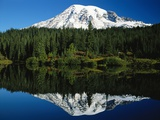 Mt. Rainier Reflecting in Lake Photographic Print by Craig Tuttle