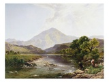 Moel Hebog from the Stepping Stone, Wales Giclee Print by Henry John Boddington