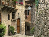 Tuscan Stone Houses Fotografie-Druck von William Manning