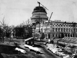 U. S. Capitol Under Construction Photographic Print