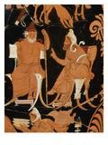 Detail of Vase of Darius Giclee Print by Araldo Luca