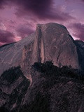 Purple Sky over Half Dome Photographic Print by Jim Zuckerman