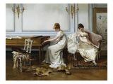 Fantasia in White Premium Giclee Print by Albert Ludovici