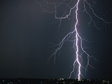 Lightning from Brown Clouds Photographic Print by Kenneth Langford