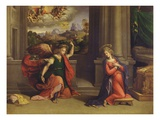 Annunciation Giclee Print by Benvenuto Tisi Da Garofalo