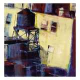 Terrace Watertower Giclee Print by Patti Mollica
