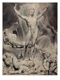 Satan Arousing the Rebel Angels Wydruk giclee autor William Blake
