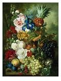 A Rich Still Life of Summer Flowers ジクレープリント : ヤン・ファン・オズ