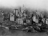 Overview of Battery Park and Lower Manhattan Photographic Print