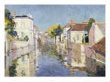 A Canal in Burano, Venice Giclee Print by Paul Mathieu