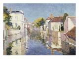 A Canal in Burano, Venice Gicléetryck av Paul Mathieu