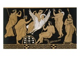 19th Century Greek Vase Illustration of Zeus Abducting Leda in the form of a Swan Premium Giclee Print by  Stapleton Collection