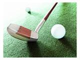 Putter and Golf Ball Impression giclée par Matthias Kulka