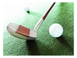 Putter and Golf Ball Giclee Print by Matthias Kulka