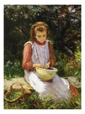 Shelling Peas Giclee Print by William Banks Fortescue
