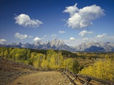 Fence Bordering Ranch Near the Teton Range Photographic Print by Craig Tuttle