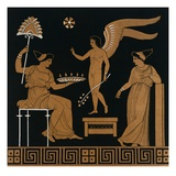 19th Century Greek Vase Illustration of Eros with Two Courtesans Giclee Print by  Stapleton Collection