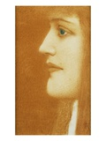 Woman in Profile Giclee Print by Fernand Khnopff