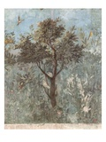 Roman Fresco of Tree with Birds Giclee Print by Araldo Luca