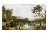A View of the Wye River, South Wales Giclee Print by John F. Tennant