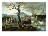 Noah&#39;s Ark-The Animals Leave the Ark Giclee Print by Jacob Bouttats