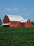 Barn and Corn Field Photographic Print by Joseph Sohm
