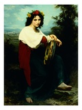 Italian Girl with a Basque Drum Giclee Print by William Adolphe Bouguereau