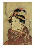 The Actor Iwai Hanshiro V as Yaoya Oshici by Utagawa Kunisada Giclee Print