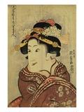 The Actor Iwai Hanshiro V as Yaoya Oshici by Utagawa Kunisada Giclee Print