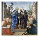 Visitation, With Saint Nicholas and Saint Anthony Abbot Giclee Print by Piero di Cosimo