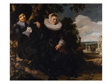 Marriage Portrait of Isaac Massa and Beatrix van der Laen Giclee Print by Frans Hals the Elder