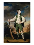 The Young Cricketer: Portrait of Lewis Cage Giclee Print by Francis Cotes