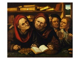 Suppliants in the Office of Two Tax Collectors Giclee Print by Studio of Quentin Massys