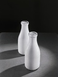 Two Quarts of Milk in Glass Bottles Photographic Print by Bettmann