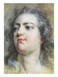 The Head of King Louis XV; A Study for Allegorical Full-Length Portrait of 1729 Giclee Print by Francois Le Moyne