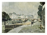 A View of the Seine, Paris Giclee Print by Paul Mathieu
