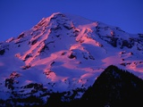 Sunset Alpenglow on Mount Rainier Photographic Print by Paul Souders