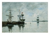 Port Scene Giclee Print by Eugène Boudin