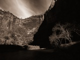 A Valley Surrounded by Cliffs Photographic Print