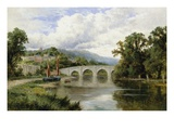 Richmond Bridge, England Giclee Print by Henry H. Parker
