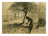 Gardening Giclee Print by Jean-François Millet