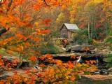 Ron Watts - Glade Creek Grist Mill Fotografická reprodukce