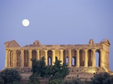 Temple of Concord Under the Moon Photographic Print by Sergio Pitamitz