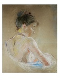 Girl with Naked Shoulders Reproduction procédé giclée par Berthe Morisot