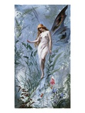 The Lily Fairy Giclee Print by Luis Ricardo Falero