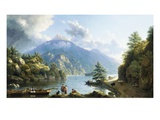 Boatmen on Loch Katrine Giclee Print by John Knox