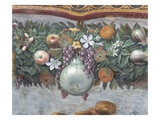 Detail of Fruits and Decorative Border from the Loggia of Cupid and Psyche Reproduction procédé giclée par  Raphael