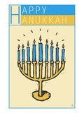 Happy Hanukkah, with a Menorah Giclee Print by Steve Collier