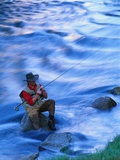 Fly Fishing on the Snake River Photographic Print by Ben Blankenburg